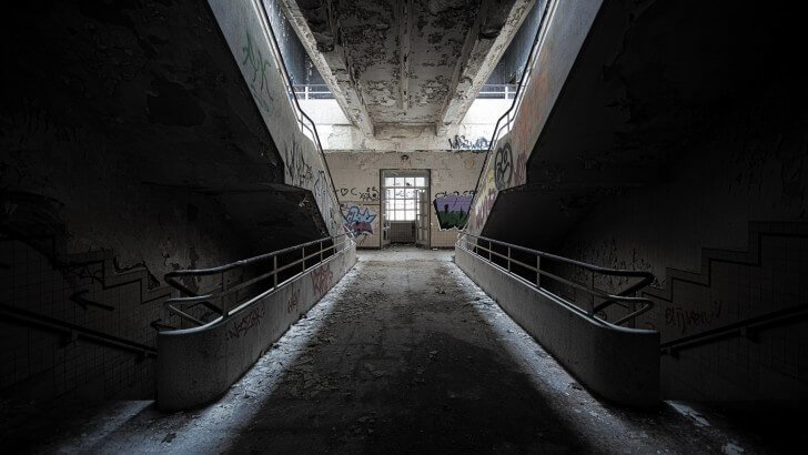 Abandoned Stairs Wallpaper City Amp Architecture Hd