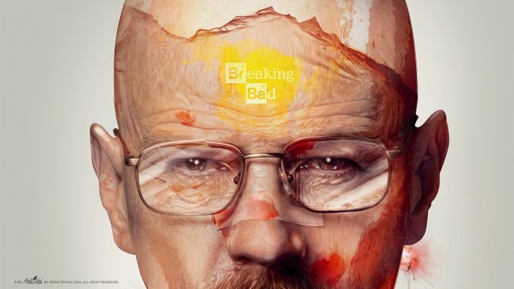 Breaking Bad - Walter White Illustration Wallpaper ...