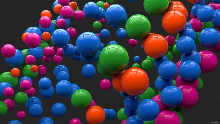 Colorful Balls Wallpaper