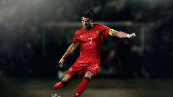 Cristiano Ronaldo In Portugal Jersey Wallpaper