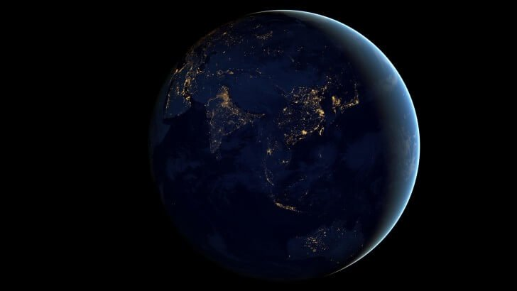Earth At Night Seen From Space Wallpaper