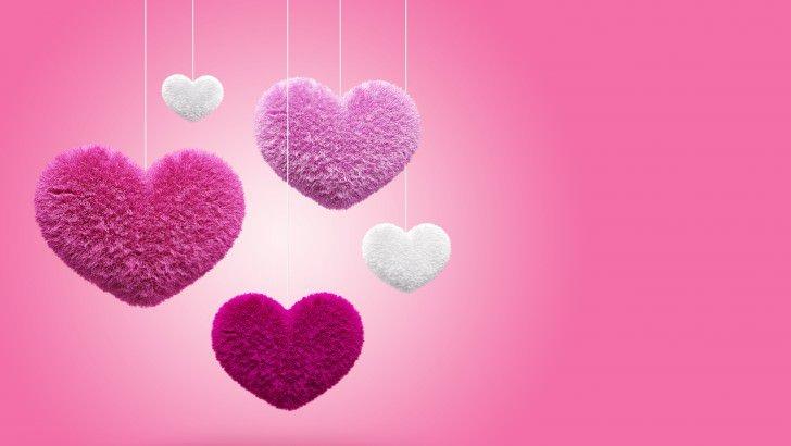 Fluffy Hearts Wallpaper