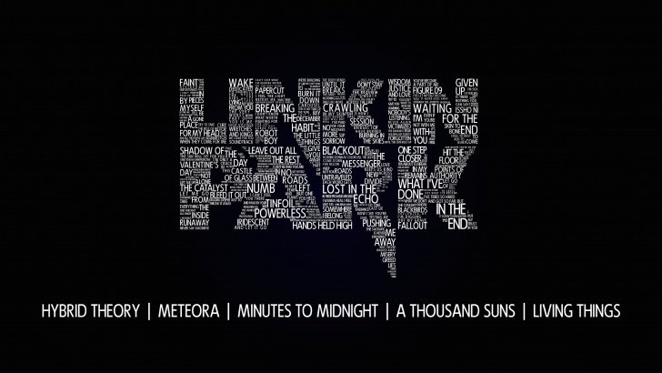 Linkin Park Typography Wallpaper