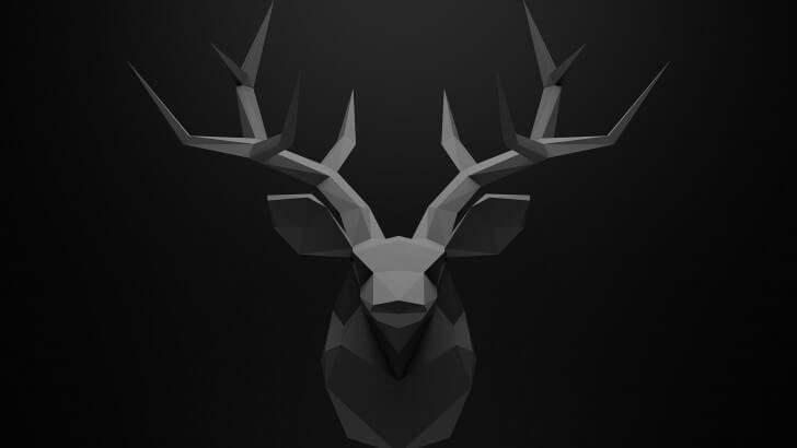 Low Poly Deer Head Wallpaper