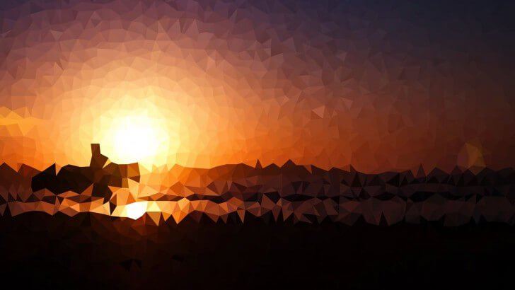 Low Poly Sunset Wallpaper