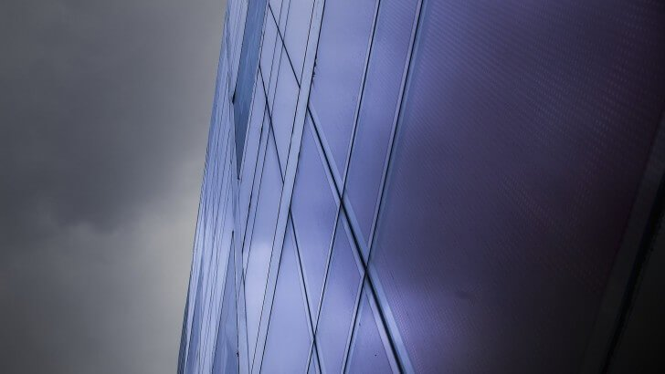 Modern Office Building Facade Wallpaper