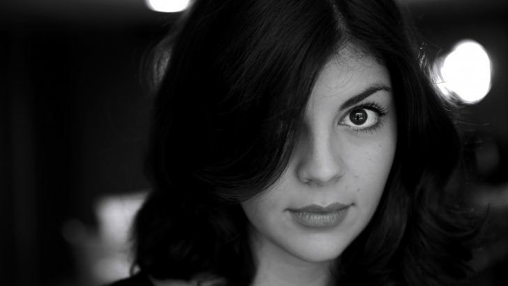 Nikki Yanofsky Black & White Portrait Wallpaper
