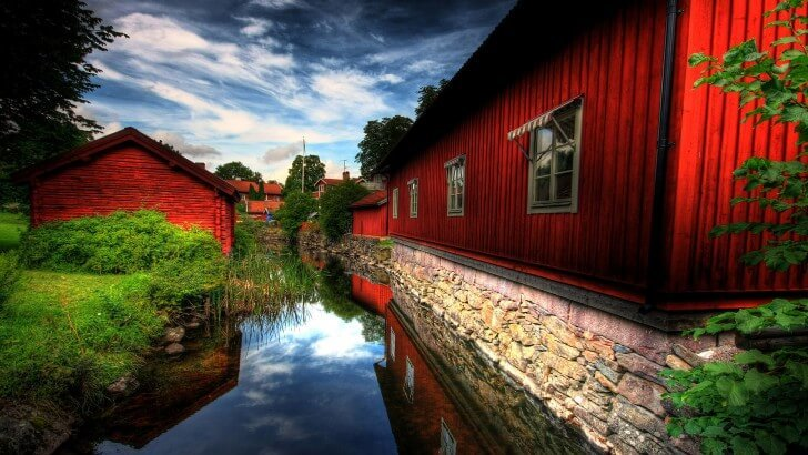 Red Village, Norberg, Sweden Wallpaper
