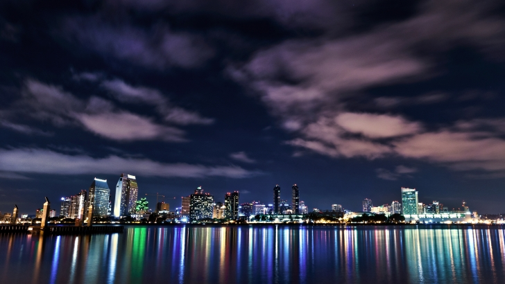 San Diego Cityscape at Night Wallpaper