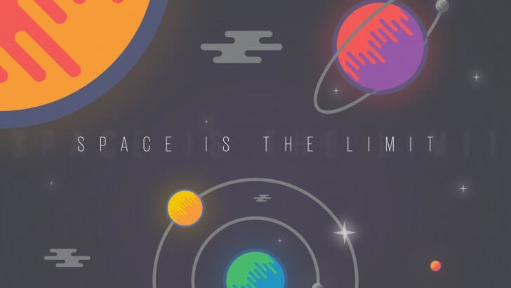 SPACE IS THE LIMIT Wallpaper