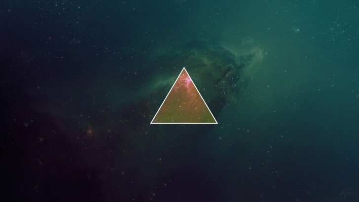 Space Triangle Wallpaper