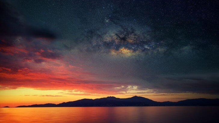 Starry Night Over Corsica Wallpaper