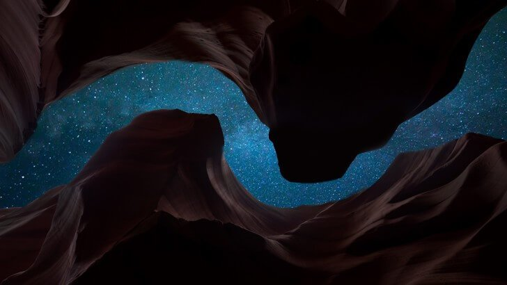 Stars rising above the Valley of Fire Wallpaper