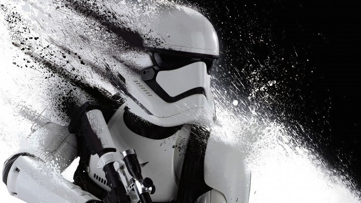 Stormtrooper Splatter Wallpaper