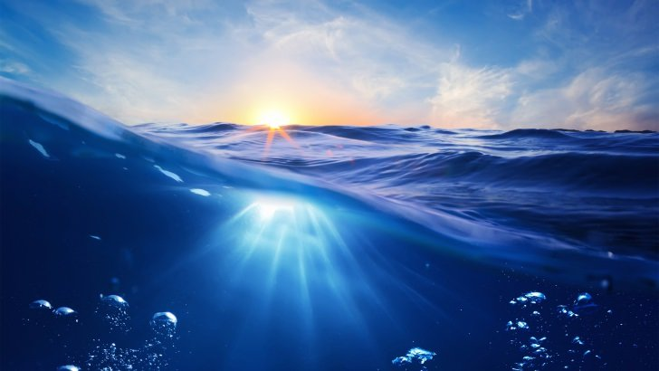 Sunrise Half Underwater Wallpaper