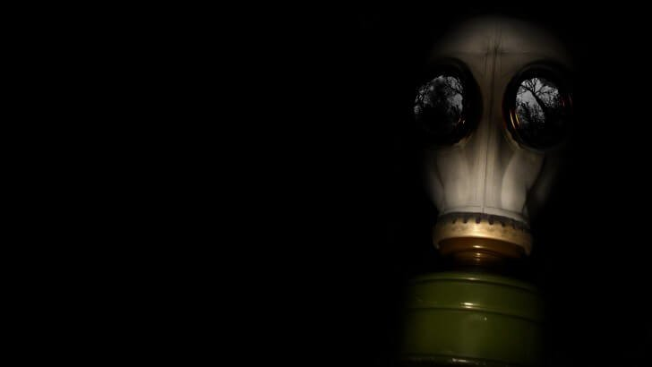 WWII Gas Mask Wallpaper