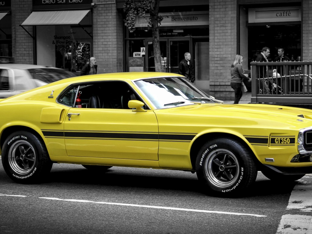 1969 Ford Mustang GT350 Wallpaper for Desktop 1024x768