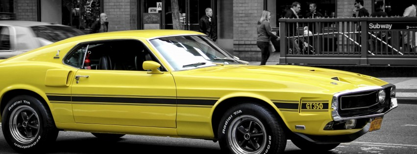 1969 Ford Mustang GT350 Wallpaper for Social Media Facebook Cover