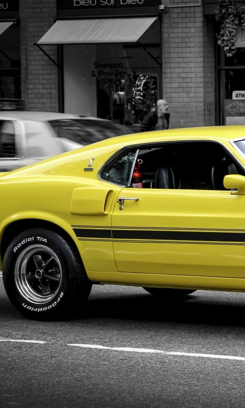 1969 Ford Mustang GT350 Wallpaper for HTC Desire HD