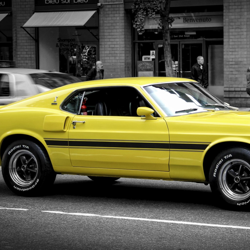 1969 Ford Mustang GT350 Wallpaper for Apple iPad 2