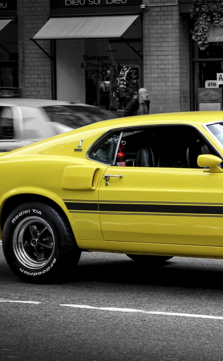 1969 Ford Mustang GT350 Wallpaper for Apple iPhone 4 / 4s