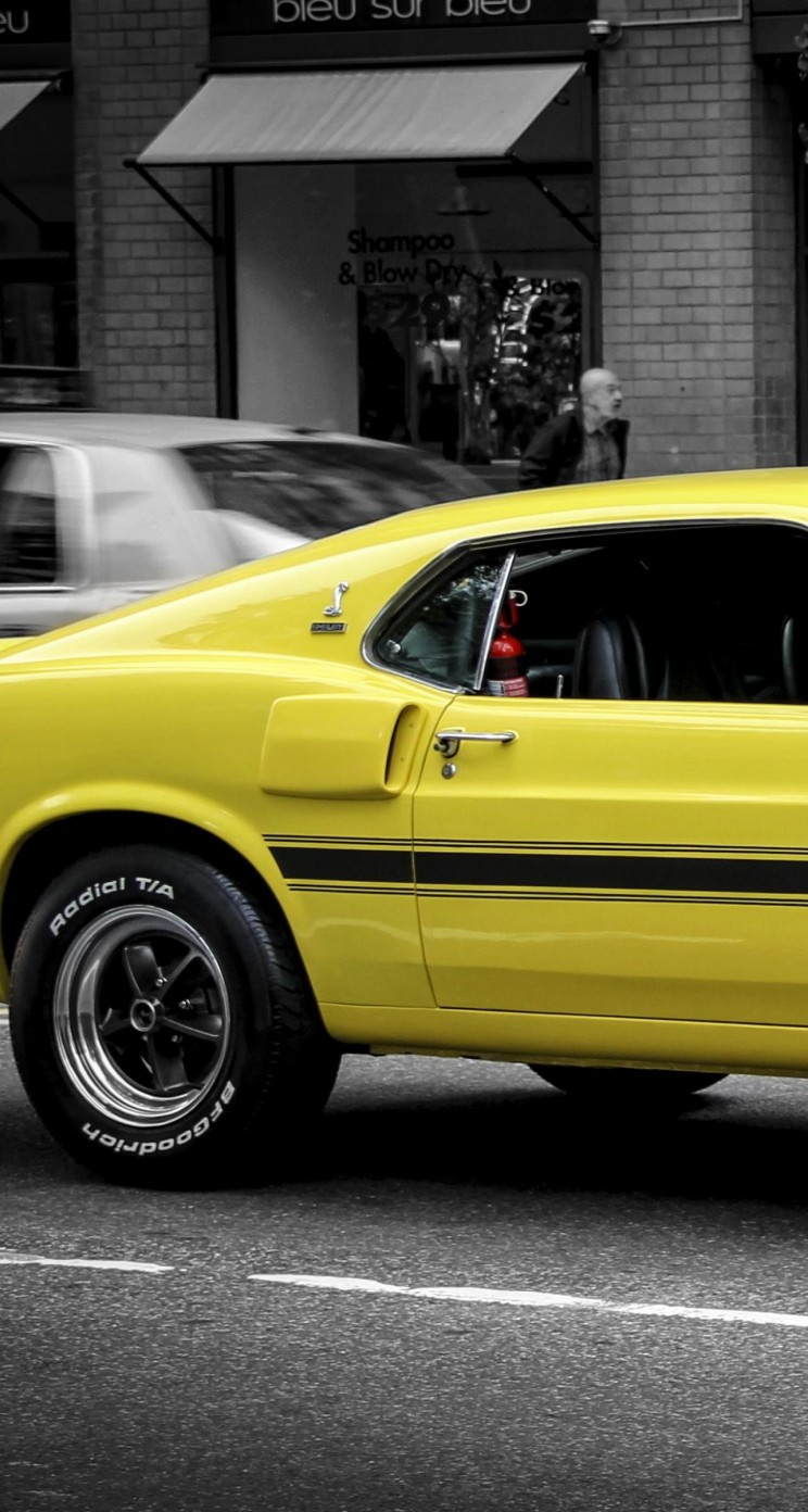 1969 Ford Mustang GT350 Wallpaper for Apple iPhone 5 / 5s