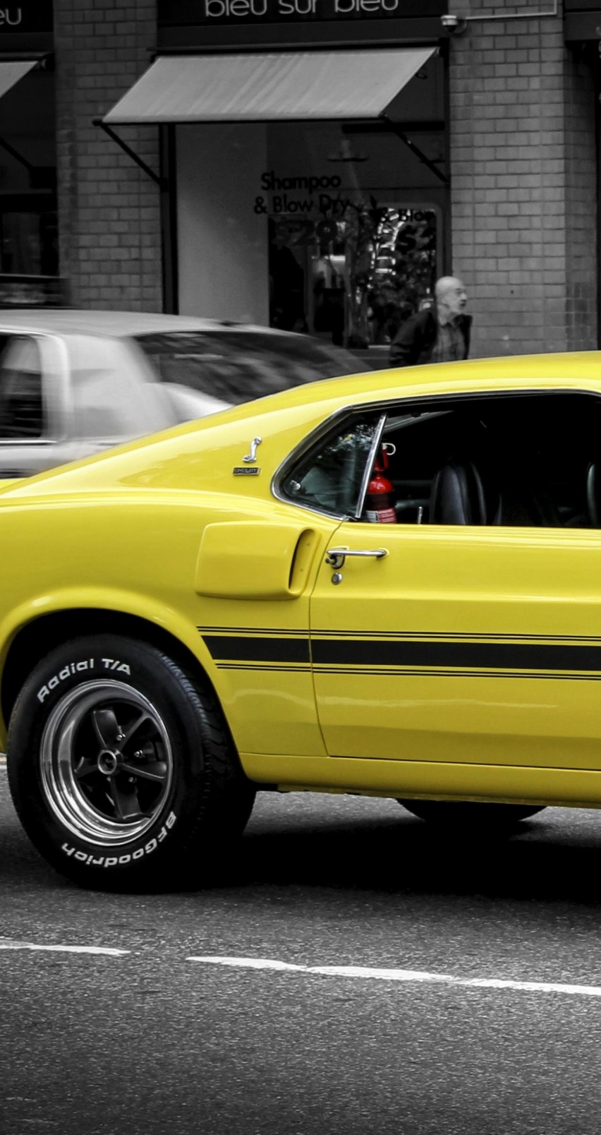 1969 Ford Mustang GT350 Wallpaper for Apple iPhone 6 / 6s