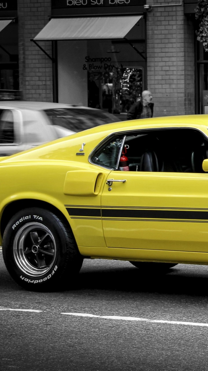 1969 Ford Mustang GT350 Wallpaper for Lenovo A6000