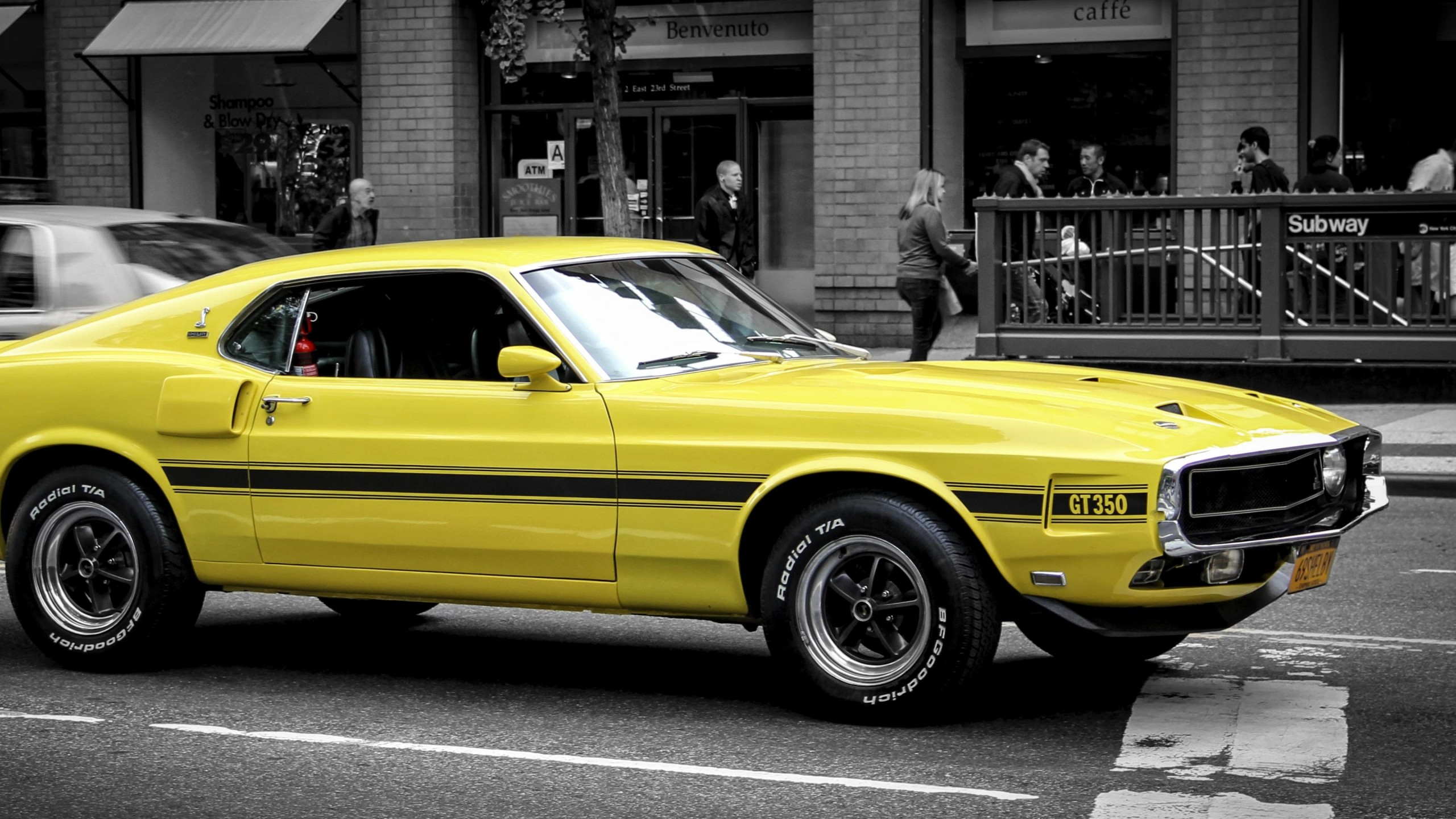 1969 Ford Mustang GT350 Wallpaper for Social Media YouTube Channel Art