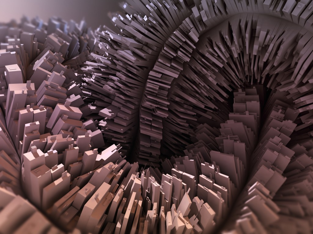 3D Abstraction Wallpaper for Desktop 1024x768