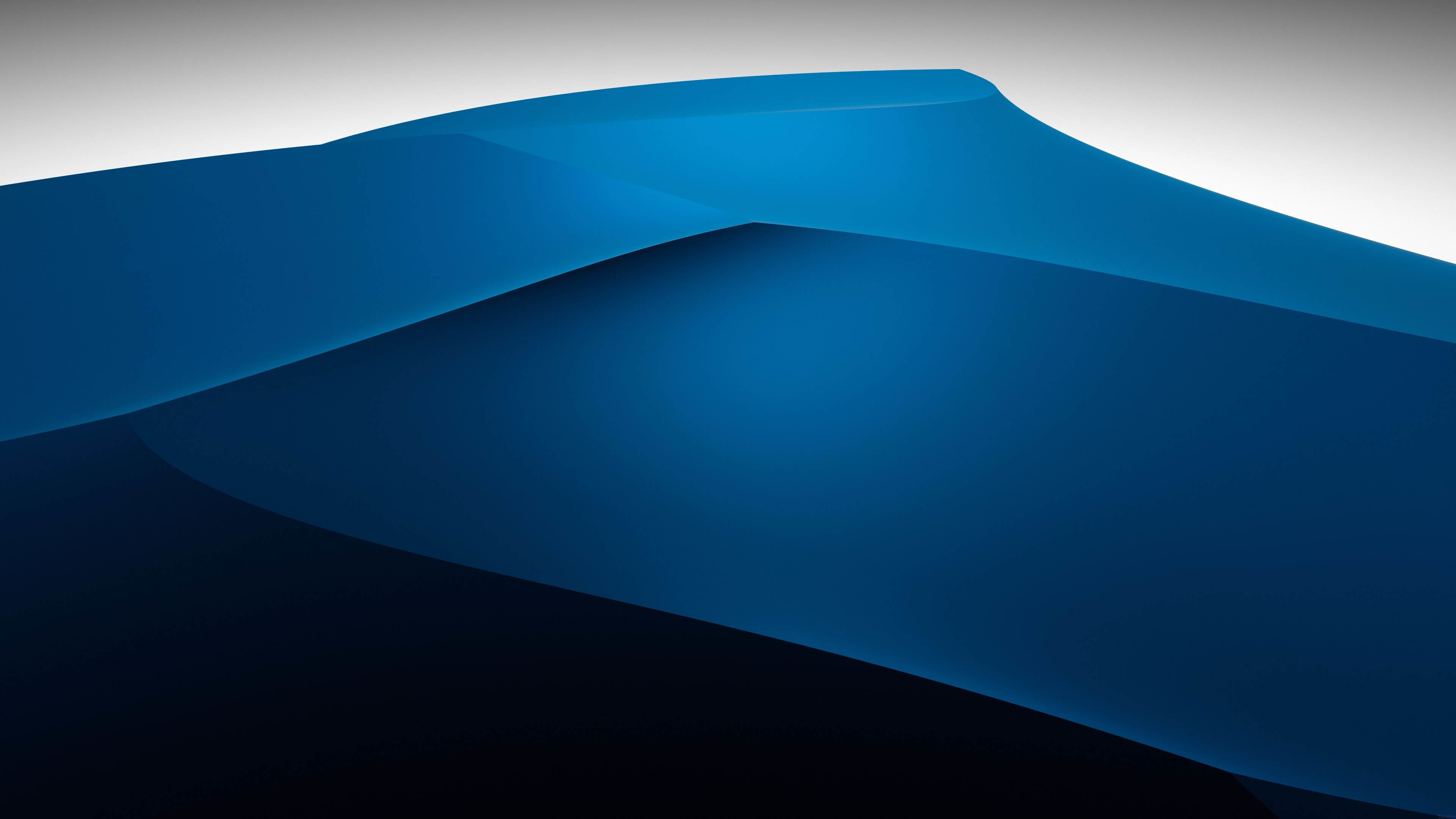 3D Blue Dunes Wallpaper for Desktop 4K 3840x2160