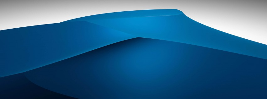 3D Blue Dunes Wallpaper for Social Media Facebook Cover