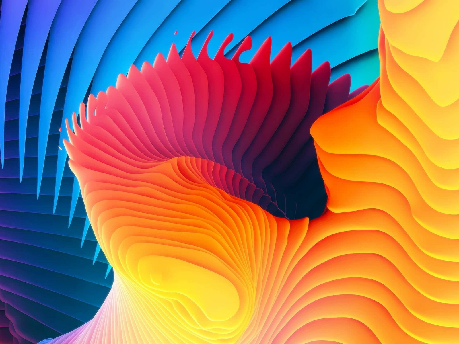 3D Colorful Spiral Wallpaper for Desktop 1600x1200