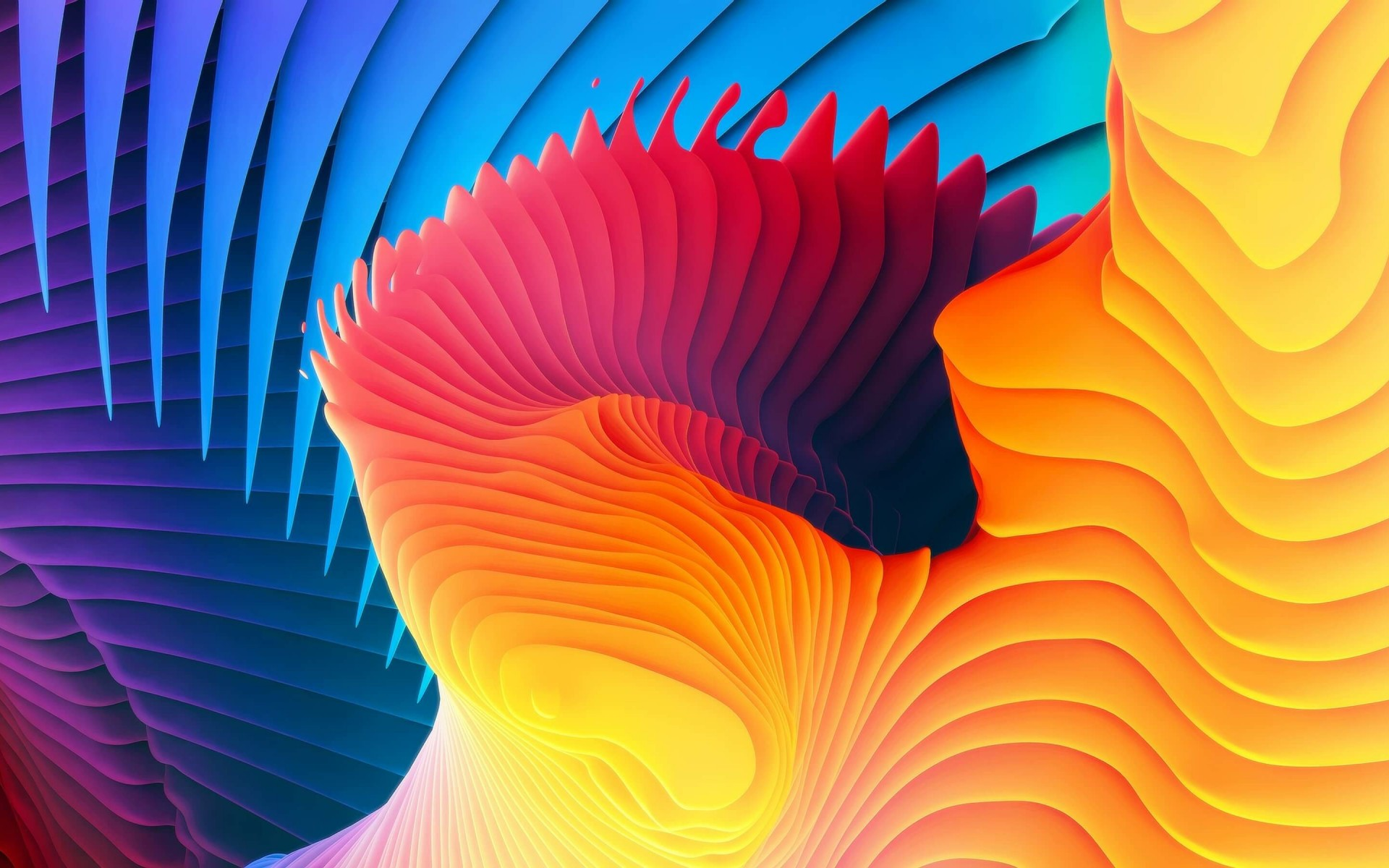 3D Colorful Spiral Wallpaper for Desktop 1920x1200
