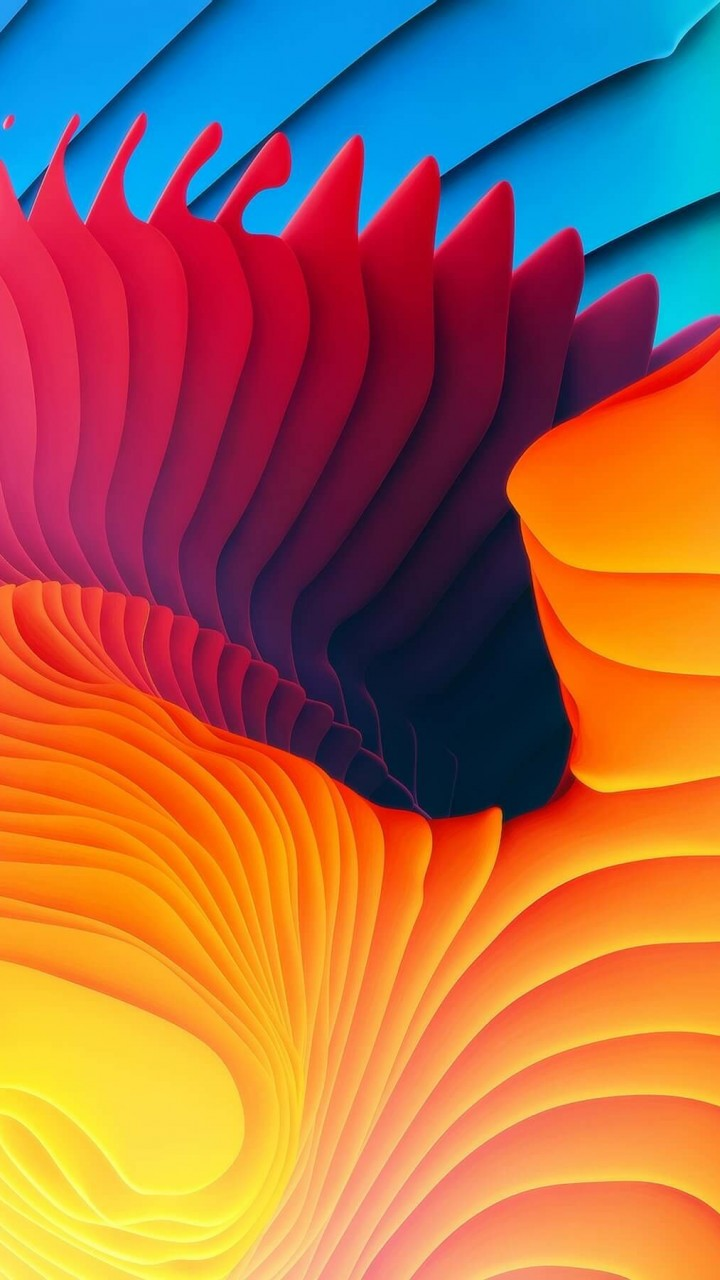 3D Colorful Spiral Wallpaper for HTC One mini