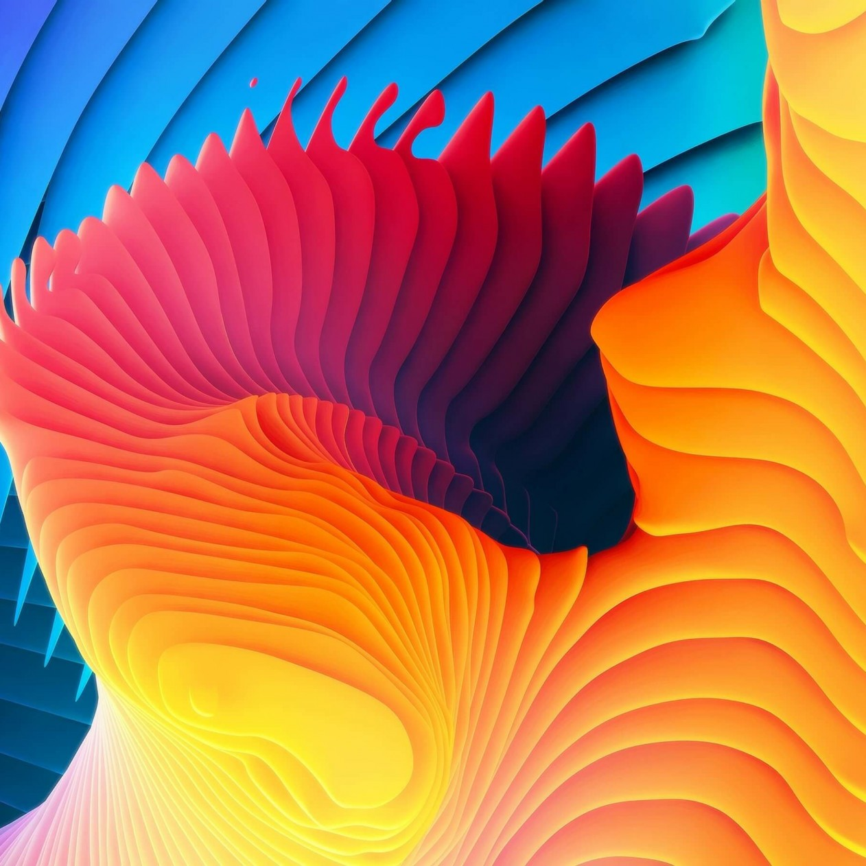 3D Colorful Spiral Wallpaper for Apple iPad mini
