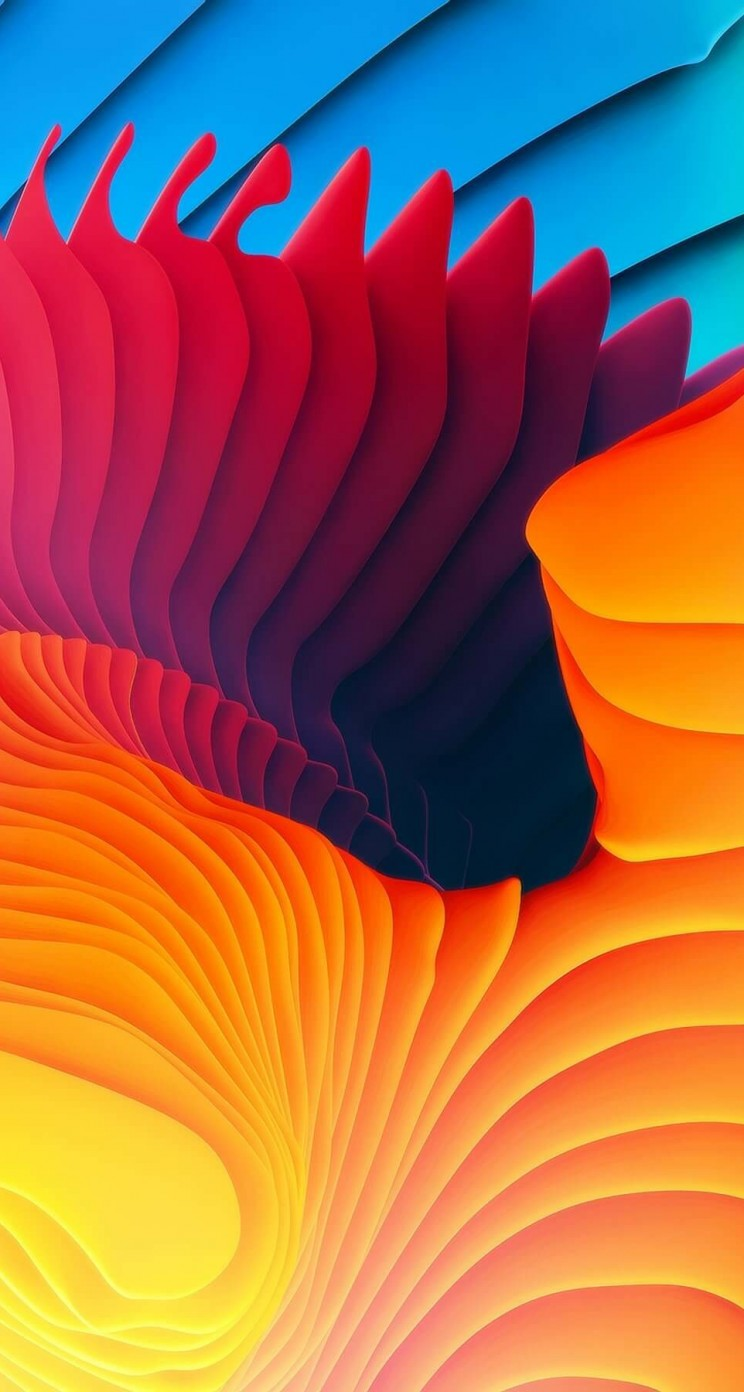 3D Colorful Spiral Wallpaper for Apple iPhone 5 / 5s