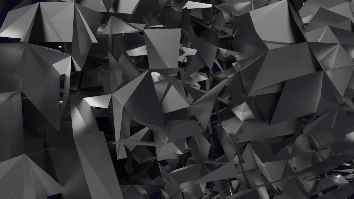 3D Geometry Wallpaper for Desktop 1366x768