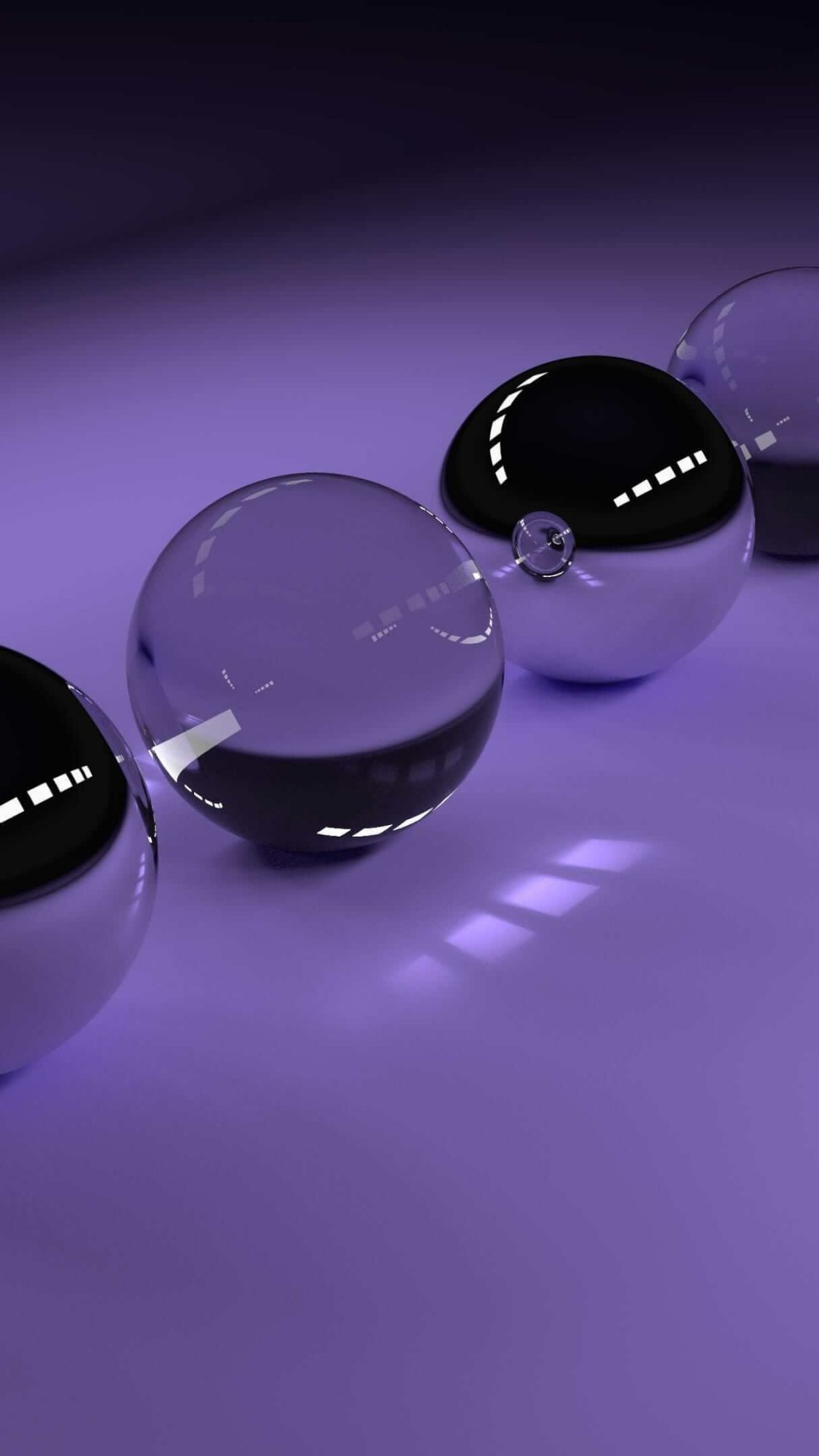 3D Glossy Spheres Wallpaper for SONY Xperia Z2