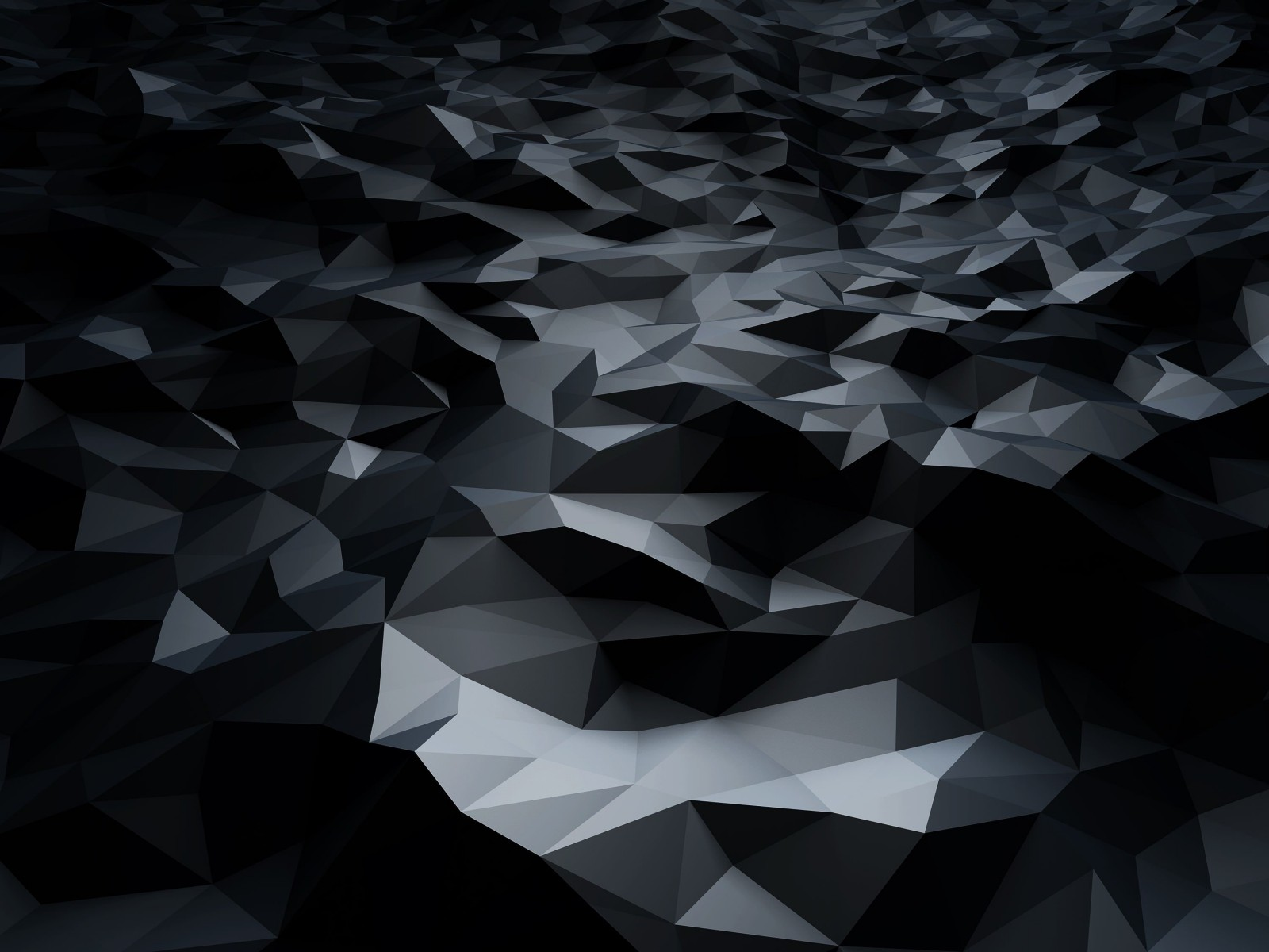 Abstract Black Low Poly Wallpaper for Desktop 1600x1200
