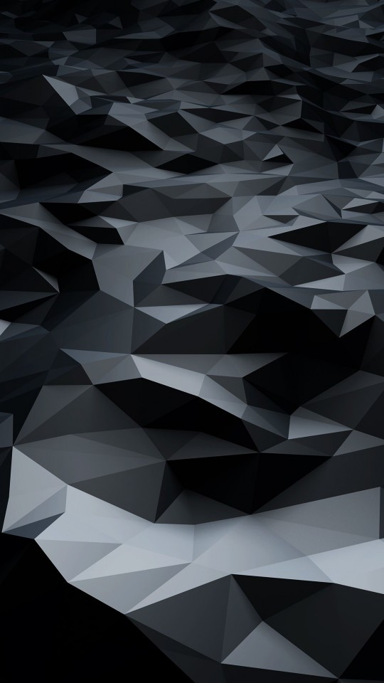 Abstract Black Low Poly Wallpaper for SAMSUNG Galaxy S4 Mini