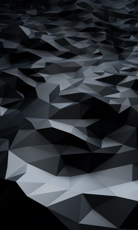 Abstract Black Low Poly Wallpaper for HTC Desire HD