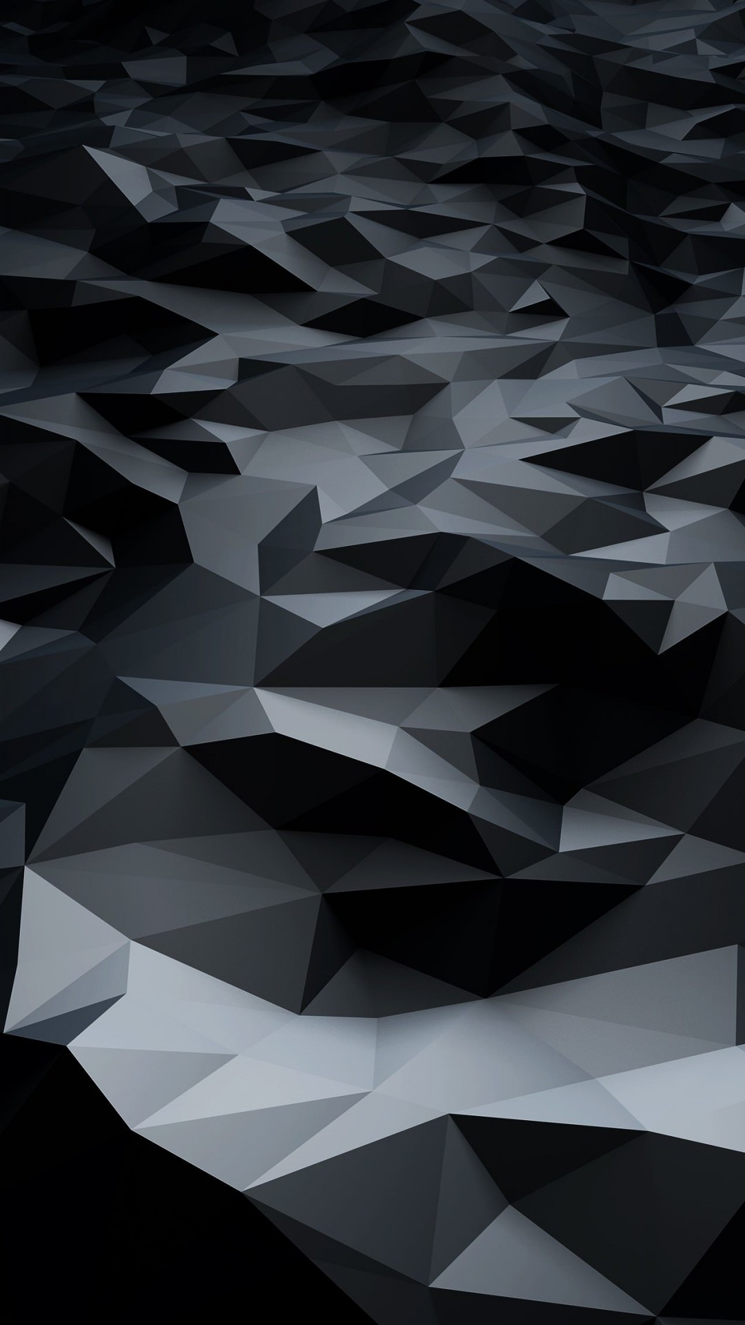 Abstract Black Low Poly Wallpaper for HTC One