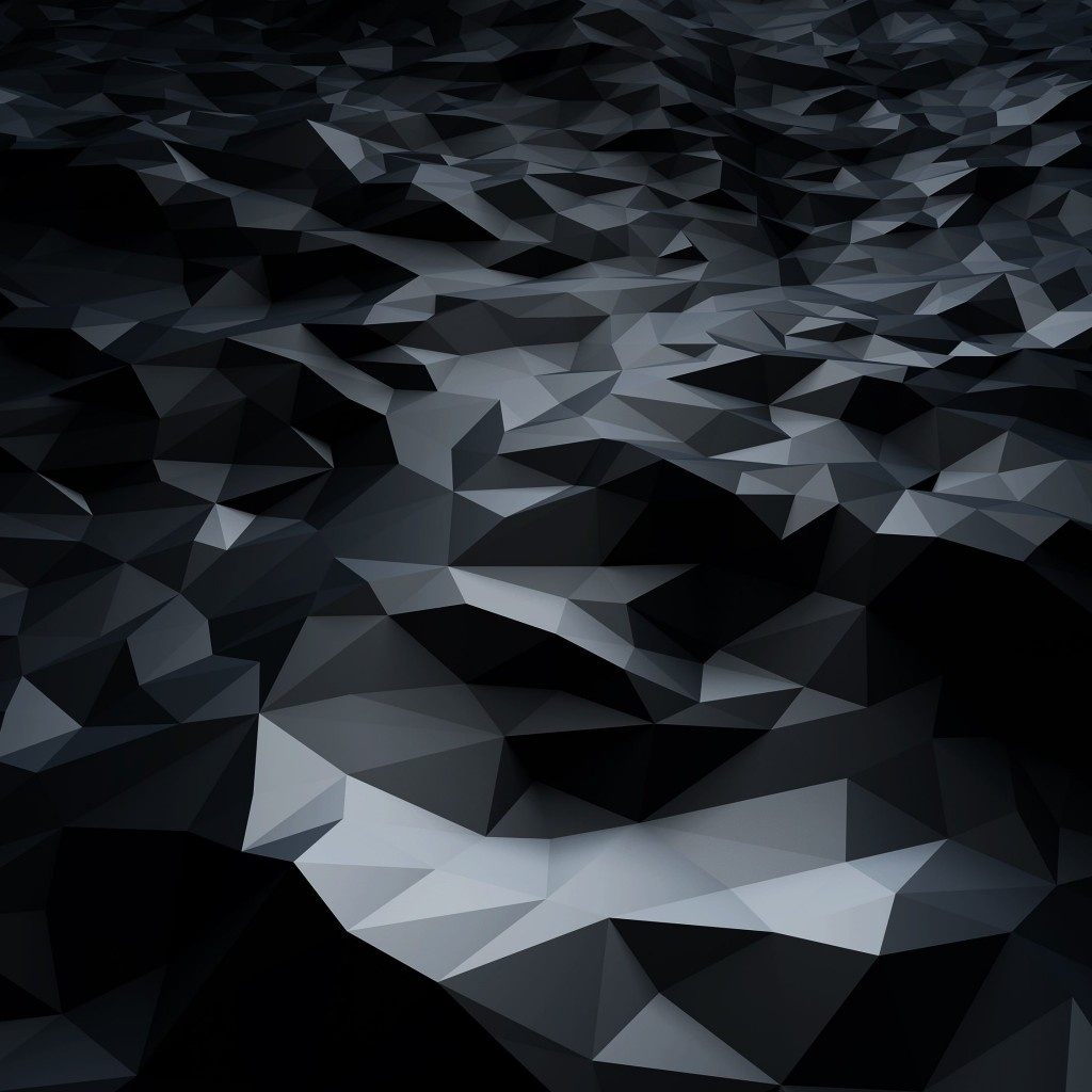 Abstract Black Low Poly Wallpaper for Apple iPad
