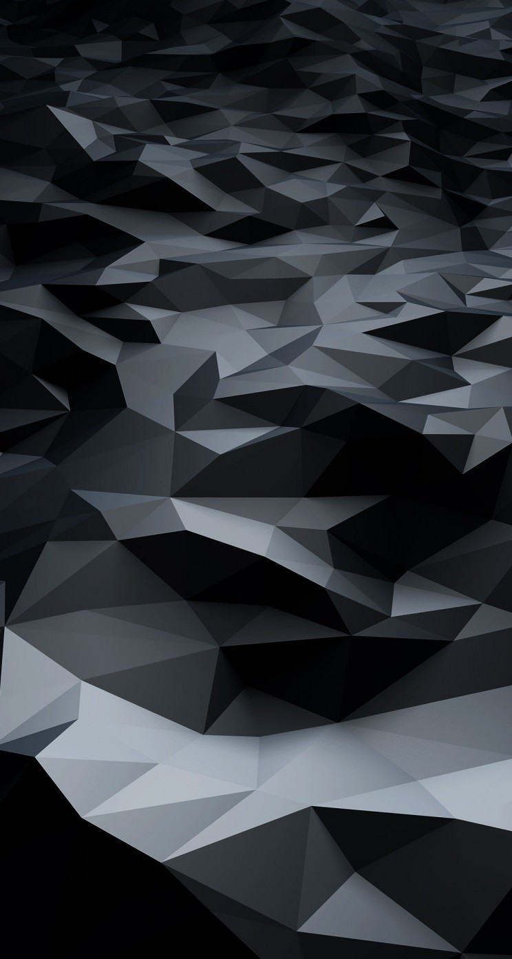 Abstract Black Low Poly Wallpaper for Apple iPhone 5 / 5s