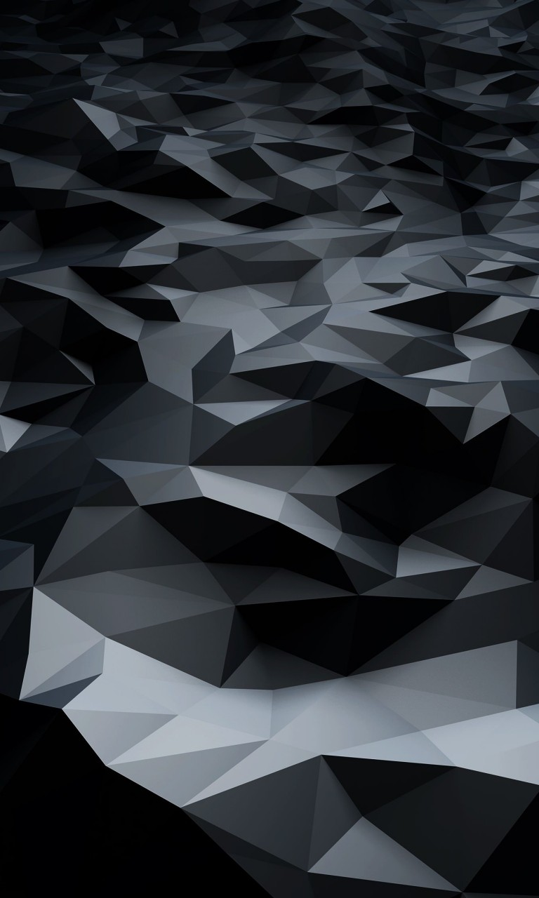 Abstract Black Low Poly Wallpaper for LG Optimus G