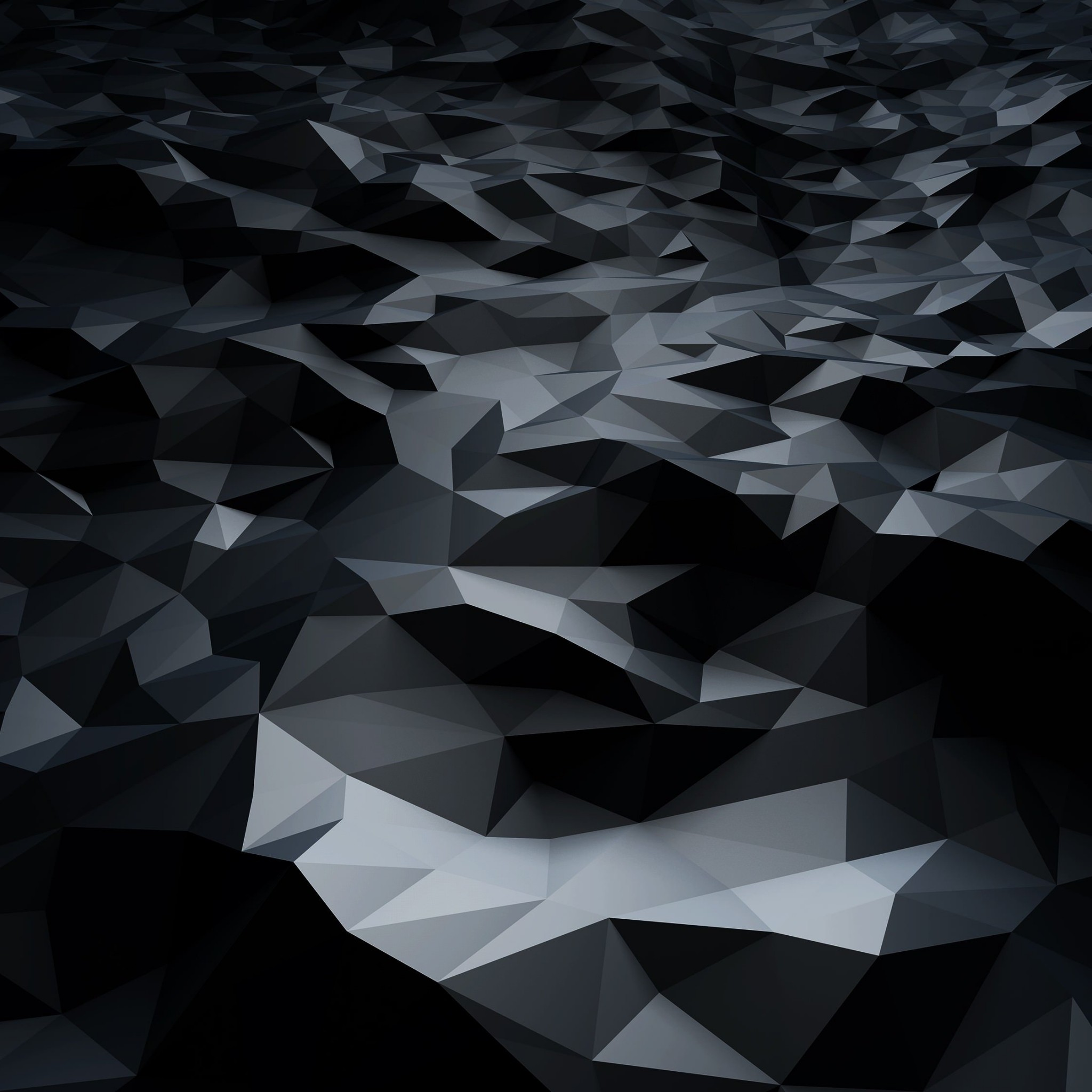 Abstract Black Low Poly Wallpaper for Google Nexus 9