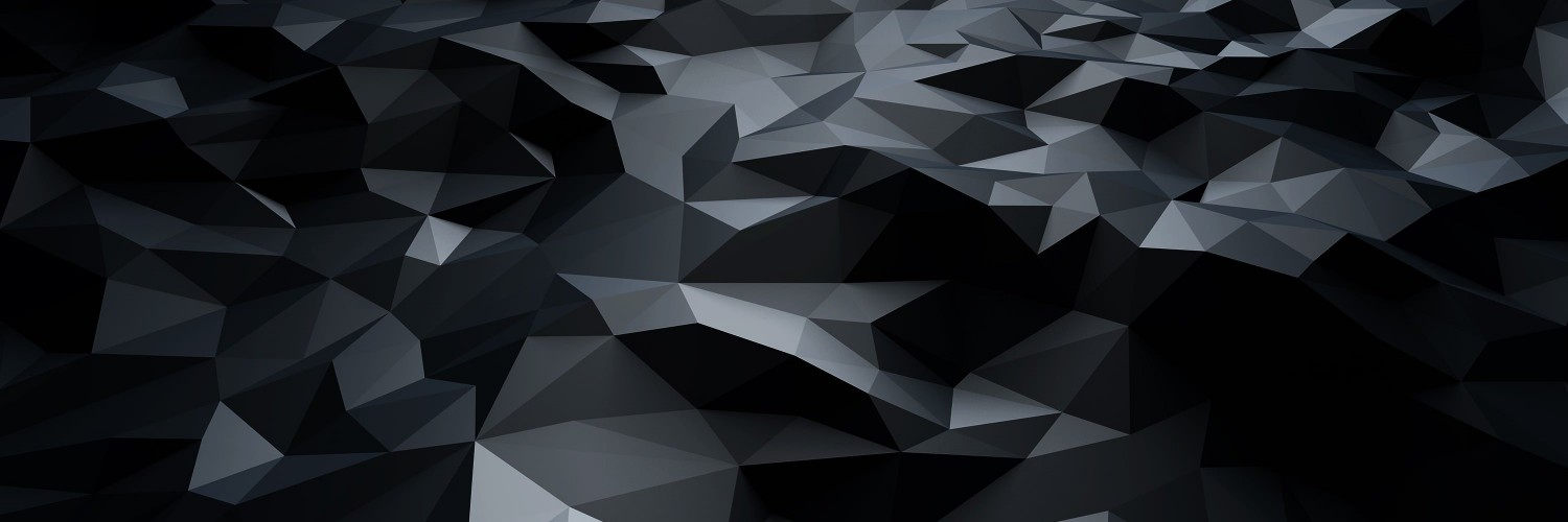 Abstract Black Low Poly Wallpaper for Social Media Twitter Header