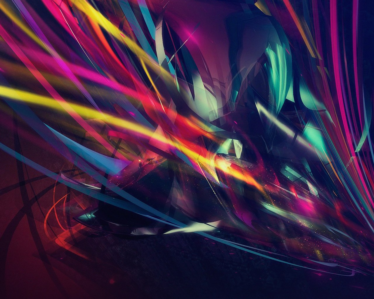 Abstract Multi Color Lines Wallpaper for Desktop 1280x1024