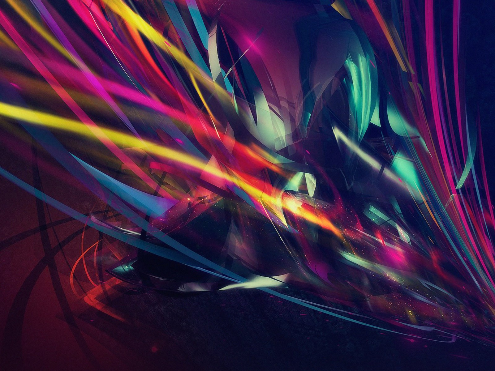 Abstract Multi Color Lines Wallpaper for Desktop 1600x1200